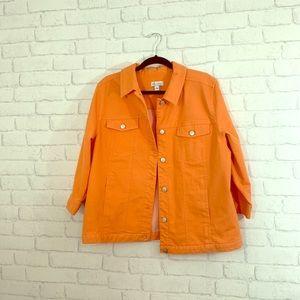 D&Co size L orange jean jacket!